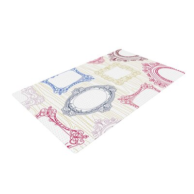 Heidi Jennings Ive Been Framed White Area Rug Rug Size: 4 x 6