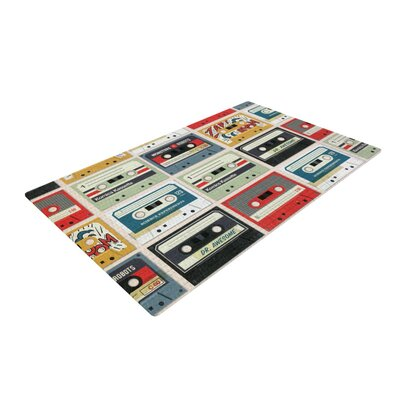 Heidi Jennings Retro Tape Red/Green/Yellow Area Rug Rug Size: 4 x 6