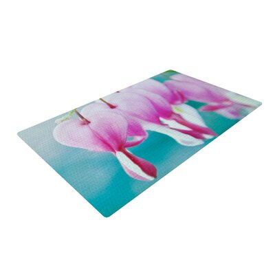Iris Lehnhardt Dicentra Teal/Pink Area Rug Rug Size: 4 x 6