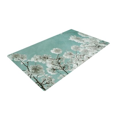 Iris Lehnhardt Flowering Season Teal/White Area Rug Rug Size: 4 x 6