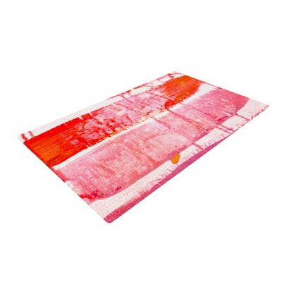 Iris Lehnhardt Coral Paint Wash Pink/Red Area Rug Rug Size: 4 x 6