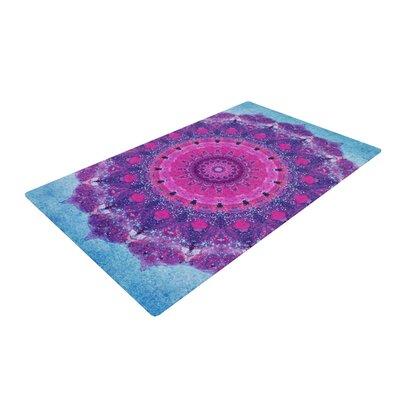 Iris Lehnhardt Grunge Mandala Purple/Blue Area Rug Rug Size: 4 x 6