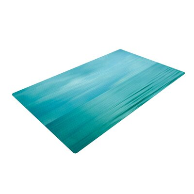 Iris Lehnhardt Calm Sea Blue/Teal Area Rug Rug Size: 4 x 6