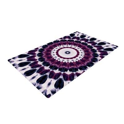 Iris Lehnhardt Batik Pattern Geometric Purple Area Rug Rug Size: 2 x 3