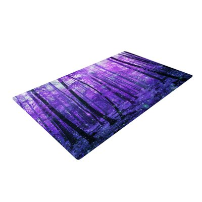 Iris Lehnhardt Magic Woods Forest Purple Area Rug Rug Size: 4 x 6