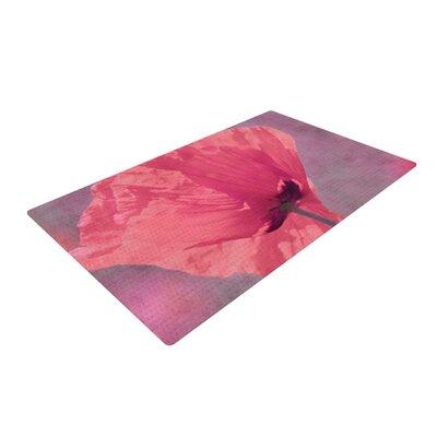 Iris Lehnhardt Poppy Flower Pink Area Rug Rug Size: 2 x 3