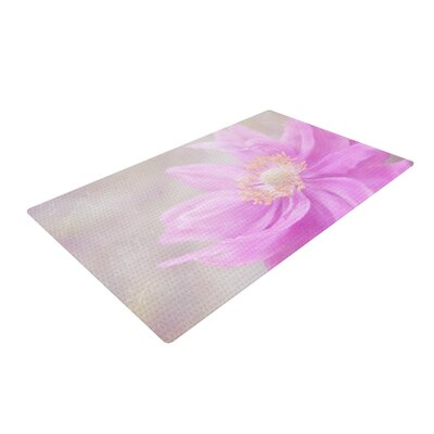 Iris Lehnhardt Wind Flower Floral Pink Area Rug Rug Size: 2 x 3