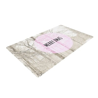 Iris Lehnhardt Merry Xmas Holiday Gray/Pink Area Rug Rug Size: 4 x 6