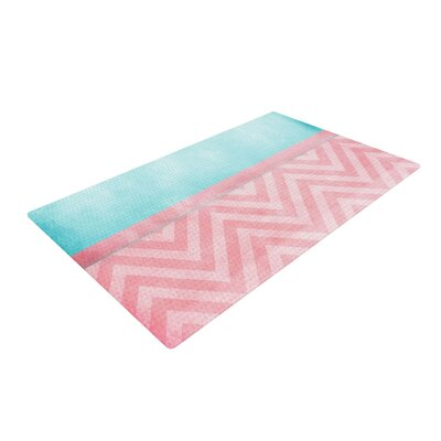Ingrid Beddoes Chevron Light Pink/Turquoise Area Rug Rug Size: 4 x 6