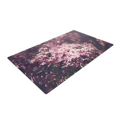 Jillian Audrey Lilacs Floral Pink Area Rug Rug Size: 4 x 6