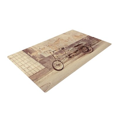 Jillian Audrey the Bicycle Photography Brown/Gray Area Rug Rug Size: 2 x 3