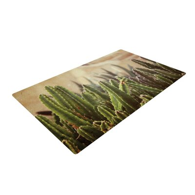 Jillian Audrey Grass Cactus Green/Brown Area Rug Rug Size: 4 x 6