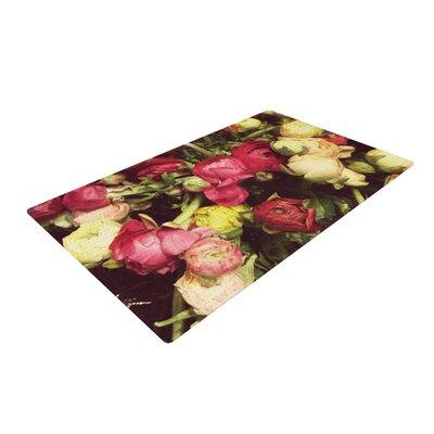 Jillian Audrey Ranunculus Pink/Yellow Area Rug Rug Size: 2 x 3