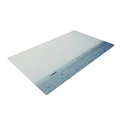 Jillian Audrey Harbor Blue/Gray Area Rug Rug Size: 2 x 3
