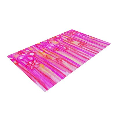 Ebi Emporium Spring Sensations Magenta Pink Area Rug Rug Size: 4 x 6
