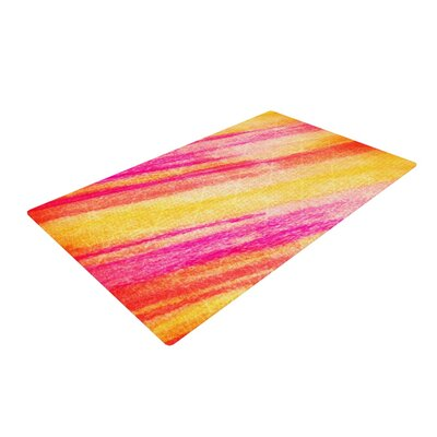 Ebi Emporium All That Jazz Yellow/Pink Area Rug Rug Size: 2 x 3