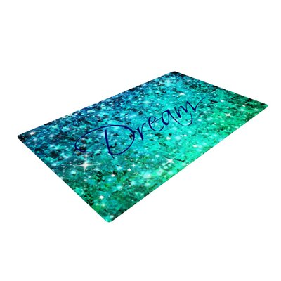 Ebi Emporium Dream Blue/Teal Area Rug Rug Size: 2 x 3