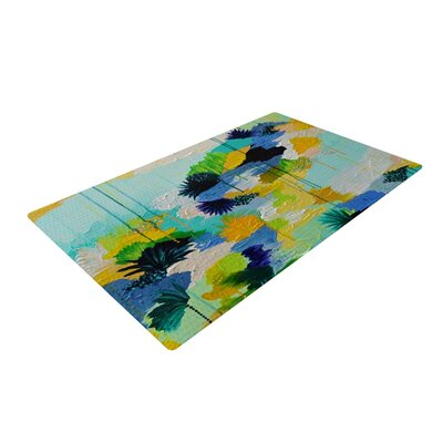 Ebi Emporium Journey to Paradise Yellow/Aqua Area Rug Rug Size: 4 x 6