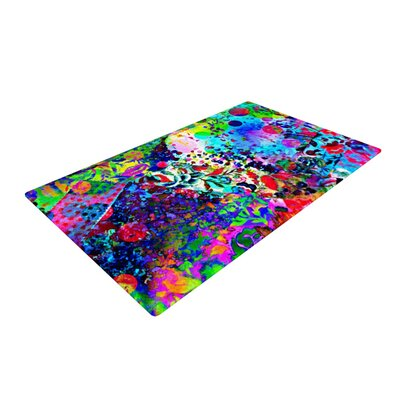 Ebi Emporium Jungle Fever Purple/Blue Area Rug Rug Size: 2 x 3