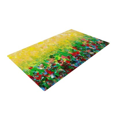 Ebi Emporium My Paintings Yellow/Green Area Rug Rug Size: 2 x 3