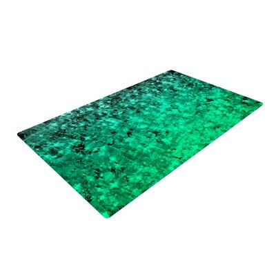 Ebi Emporium Romance Me Glitter Teal/Green Area Rug Rug Size: 2 x 3