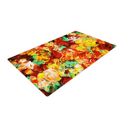 Ebi Emporium Floral Fantasy II Orange/Yellow Area Rug Rug Size: 2 x 3