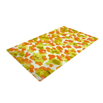 Ebi Emporium Giraffe Spots Orange/Yellow Area Rug Rug Size: 2 x 3