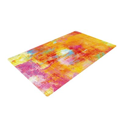 Ebi Emporium Off the Grid Orange/Rainbow Area Rug Rug Size: 2 x 3