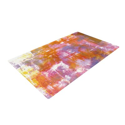 Ebi Emporium Off the Grid II Painting Orange Area Rug Rug Size: 4 x 6