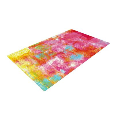 Ebi Emporium Off the Grid III Pink/Yellow Area Rug Rug Size: 2 x 3