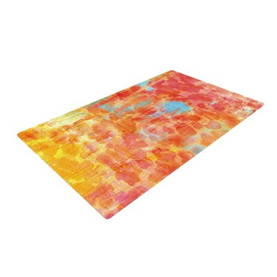 Ebi Emporium Jungle Orange/Red Area Rug Rug Size: 2 x 3