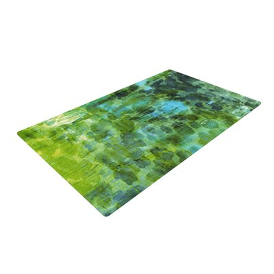 Ebi Emporium Jungle II Green/Blue Area Rug Rug Size: 2 x 3