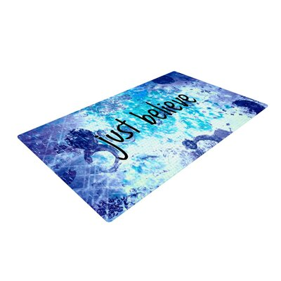 Ebi Emporium Just Believe Blue/Purple Area Rug Rug Size: 4 x 6