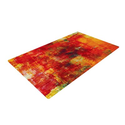 Ebi Emporium Autumn Harvest Red/Orange Area Rug Rug Size: 4 x 6