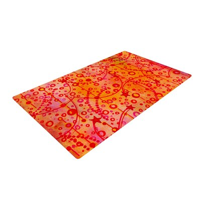 Ebi Emporium Make a Wish Orange/Red Area Rug Rug Size: 2 x 3