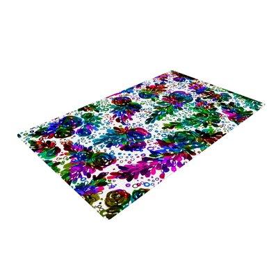 Ebi Emporium Prismatic Posy II Floral Rainbow Area Rug Rug Size: 2 x 3