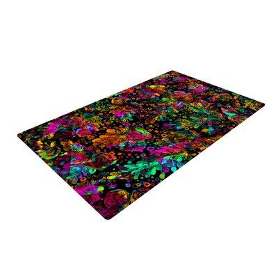 Ebi Emporium Prismatic Posy IV Floral Rainbow Area Rug Rug Size: 2' x 3'