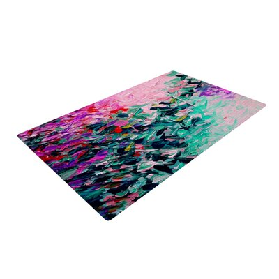 Ebi Emporium Romantic Getaway Pink/Teal Area Rug Rug Size: 4' x 6'