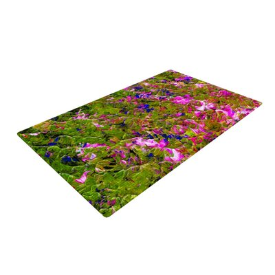 Ebi Emporium Beyond the Horizon Pink/Green Area Rug Rug Size: 2' x 3'