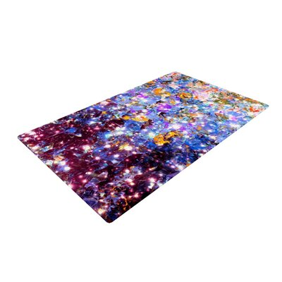 Ebi Emporium Midnight Serenade Blue/Purple Area Rug Rug Size: 2' x 3'