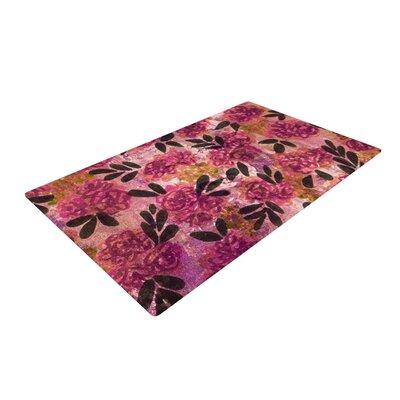 Ebi Emporium Grunge Flowers II Floral Pink Area Rug Rug Size: 4' x 6'