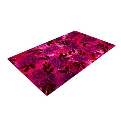 Ebi Emporium Grunge Flowers IV Pink/Red Area Rug Rug Size: 4 x 6