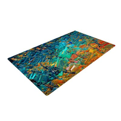 Ebi Emporium Eteranl Tide II Teal/Orange Area Rug Rug Size: 2' x 3'
