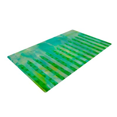 Ebi Emporium Fancy This Green/Teal Area Rug Rug Size: 2 x 3