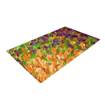 Ebi Emporium Follow the Current III Orange/Green Area Rug Rug Size: 4 x 6