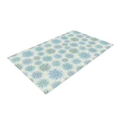 Julia Grifol My Delicate Flowers Blue/Green Area Rug Rug Size: 4 x 6