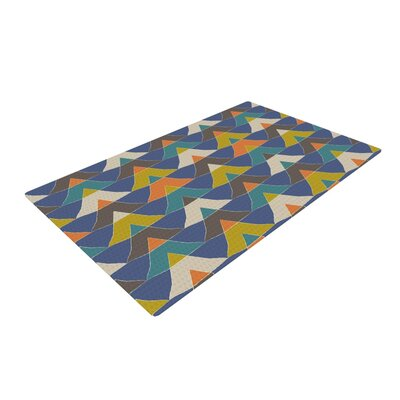 Julia Grifol Triangles Blue/Green Area Rug Rug Size: 2 x 3