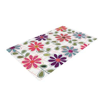 Jolene Heckman Fall Flowers Floral Pink/Purple Area Rug Rug Size: 2 x 3