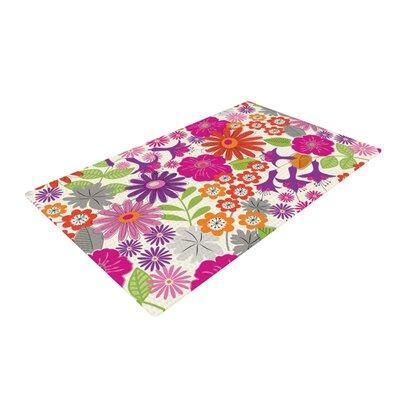 Jacqueline Milton Lula Tropical Pink/White Area Rug Rug Size: 2 x 3