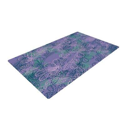 Patternmuse Jaipur Juniper Blue/Lavender Area Rug Rug Size: 2 x 3